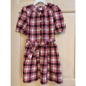 Gap Girl's Dress in pink plaid. Size Medium